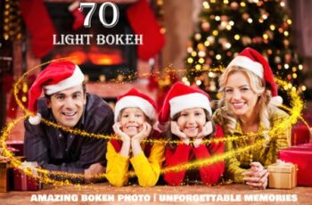 70 Christmas Light Bokeh Photo Overlays 2998860 6