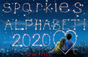 72 Sparklers Alphabet Photo Overlays 2998854 8