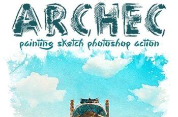 Archec - Painting Sketch Photoshop Action 25624369 4