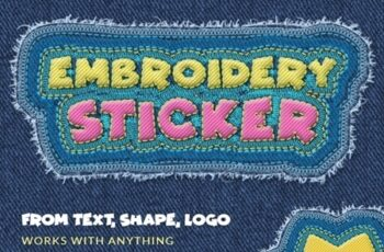 Embroidery Sticker - Photoshop Action 25804960 2