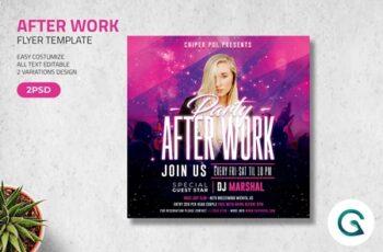 After Work Flyer 4596484 4