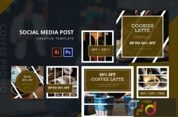 Coffee Promo Social Media Post Template J4L5KG7 7