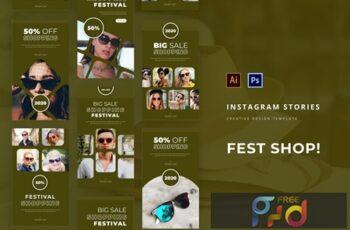 Fest Shop Instagram Story Template XXMTKZZ