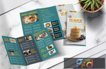 Food Menu Trifold Brochure Vol.05 4WWXTY5 3