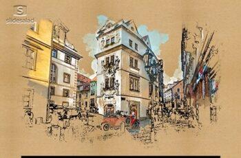 Quick Watercolor Urban Sketcher Photoshop Action 25875786 7
