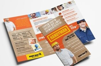 Trifold Brochure Layout with Wooden Texture Elements 324361327 6