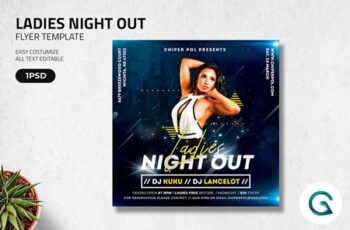 Ladies Night Out Flyer Template 4585272 4