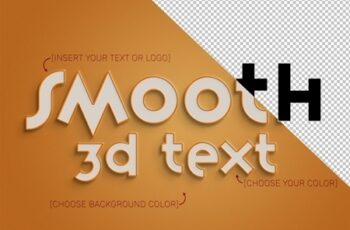3D Text Effect Mockup with Stroke 324637168 9