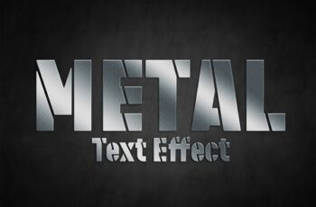 Metal Style Text Effect Mockup 324636788 3