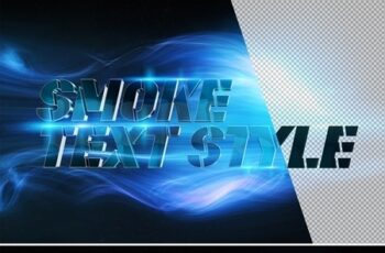 Metallic 3D Text Effect Mockup with Blue Smoke 324636466 8