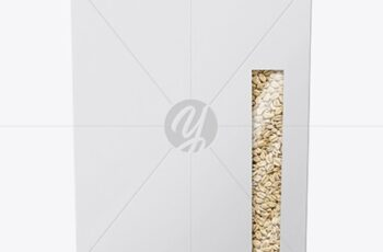 Paper Box with Oatmeal Mockup 56036 10
