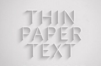 Paper Text Effect Mockup with Deep Shadow 324640011 5