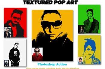 Textured Pop Art Photoshop Action 4578289 7