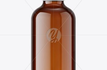 Pharmacy Amber Glass Bottle Mockup 55423 1
