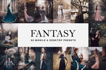 50 Fantasy Lightroom Presets and LUTs 4625149 5
