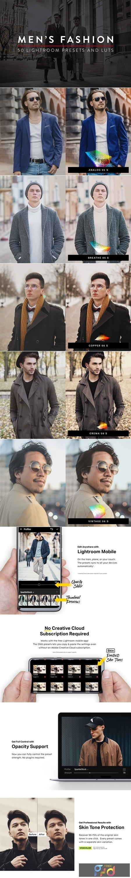 50 Mens Fashion Lightroom Presets and LUTs 4546717 1