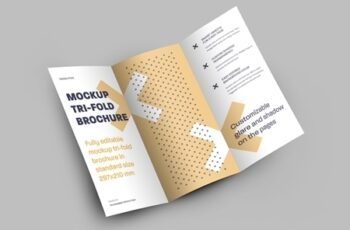 4 Mockup Set of Tri Fold Roll Brochures 318986632 7