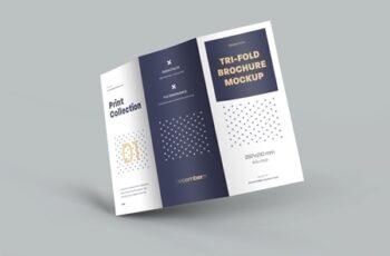 4 Mockup Set of Tri Fold Roll Brochures 318986644 10