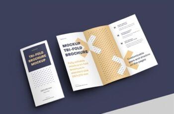 4 Mockup Set of Tri Fold Roll Brochures 318986898 9