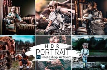 HDR Portrait Photoshop Actions 25818352 4
