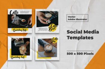 Coffe Instagram Templates Vector 3008174 4
