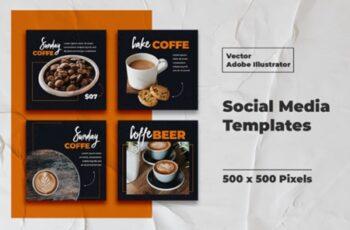 Coffe Instagram Templates Vector 3008159 4