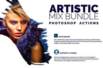 Artistic Mix Bundle Photoshop Action 4551077 7