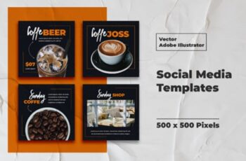 Coffe Instagram Templates Vector 3008165 7