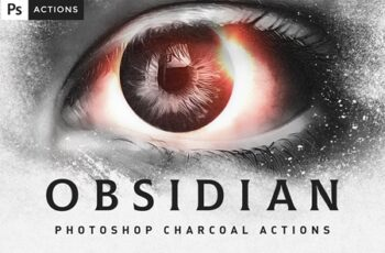 OBSIDIAN Charcoal Photoshop Actions 4530907 6