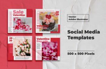 Valentine Instagram Templates Vector 3008122 5