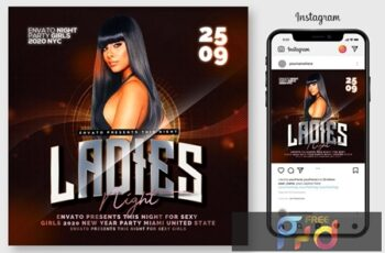 Ladies Urban Touch Party Flyer 4519275 7
