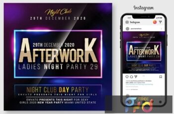 Glow Party Flyer Template 4523549 5