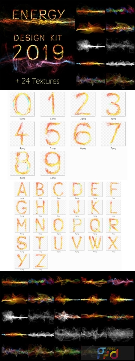 Energy Design Kit Abstract Wave Alphabet 3016496 1