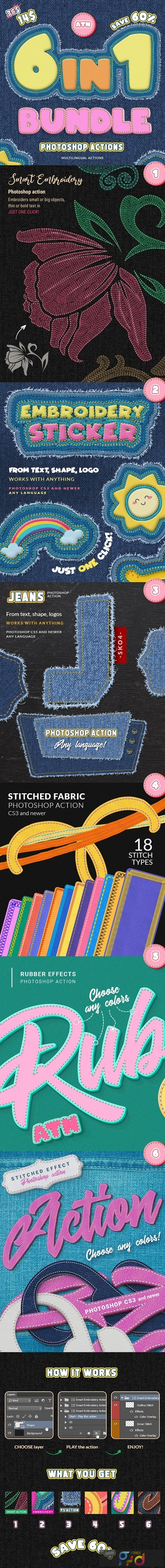 Stitch & Embroidery Actions Bundle 25972982 1