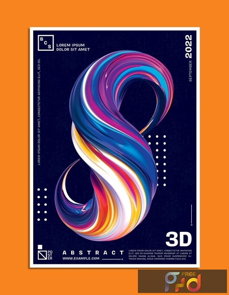 Abstract 3D Paint Brush Shape Poster Layout 328341509 1