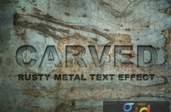 Carved Metal Text Effect 283065943