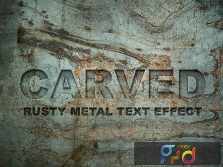 Carved Metal Text Effect 283065943 1