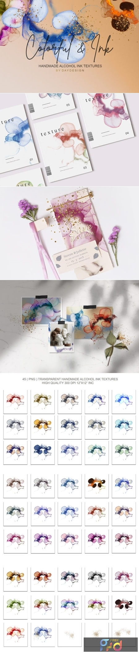 Alcohol Ink Textures PNG 3449287 1