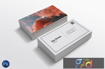 Smoke Color Business Card Template KKYKSY8 2