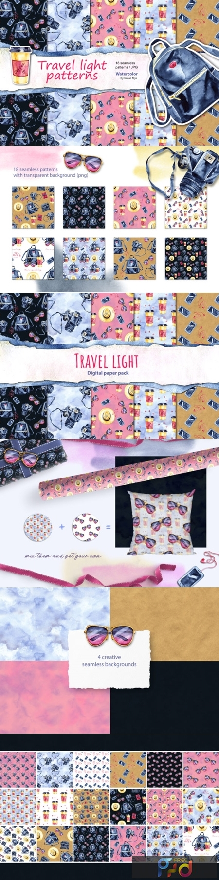 Travel Light - Seamless Patterns 3490273 1