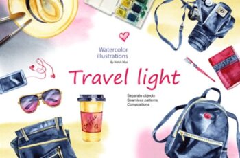 Watercolor Travel Light Cliparts 3490332 7