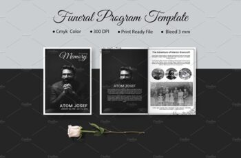 8 Page Funeral Program Template V935 4250086 8