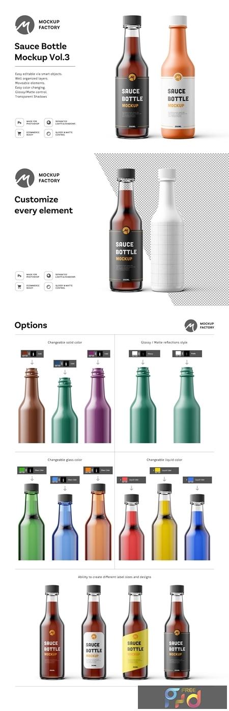 Sauce Bottle Mockup Vol.3 4585215 1