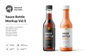 Sauce Bottle Mockup Vol.3 4585215 6