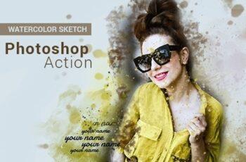 Watercolor Sketch - Photoshop Action 25782143 14