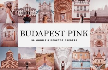 50 Budapest Pink Lightroom Presets and LUTs 4652836 4