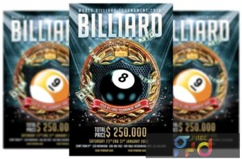 Billiard Tournament Flyer Template 3577912 2
