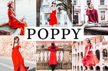Poppy Mobile & Desktop Lightroom Presets 4655201 5