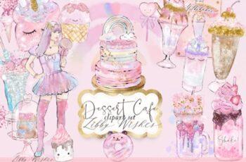 Desset Cafe Clipart Illustrations 3586445 5