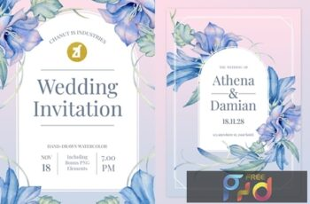 Floral Hand-drawn Watercolor Wedding Invitation DLLRU67 7